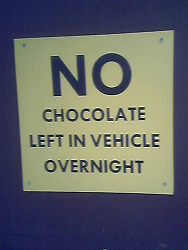 no chocolate left in vechicle