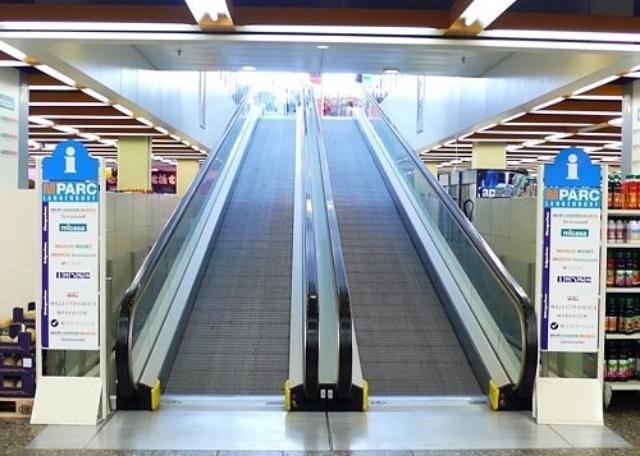 Escalator, Migros Supermarket, Langendorf