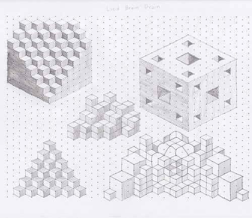 Displaying 20 gt  Images For - Cool Things To Draw On Graph Paper   Isometric Design Paper