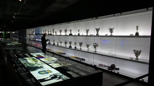พิพิธภัณฑ์ของ FC Barcelona สภาพแสงน้อย