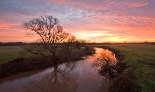 bridge england sunrise river geotagged worcestershire teme worcester powick impressedbeauty geo:lat=52169724 geo:lon=2241071