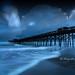 The Folly Beach Fishing Pier by Rod Pasibe