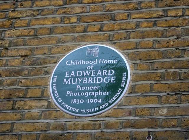 Eadweard Muybridge green plaque - Childhood home of Eadweard Muybridge  pioneer photographer 1830-1904