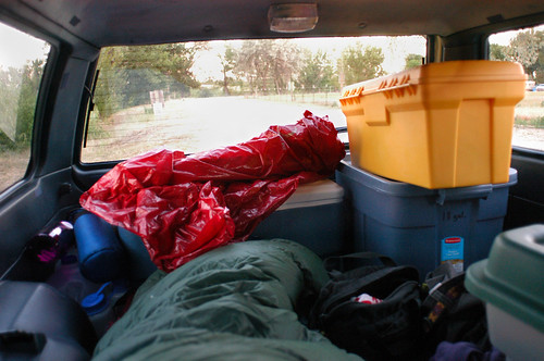morning sleeping car view sleep idaho subaru campground caldwell ut2005 bluwgn