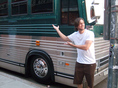 Jason and his Authorty Zero Tour Bus