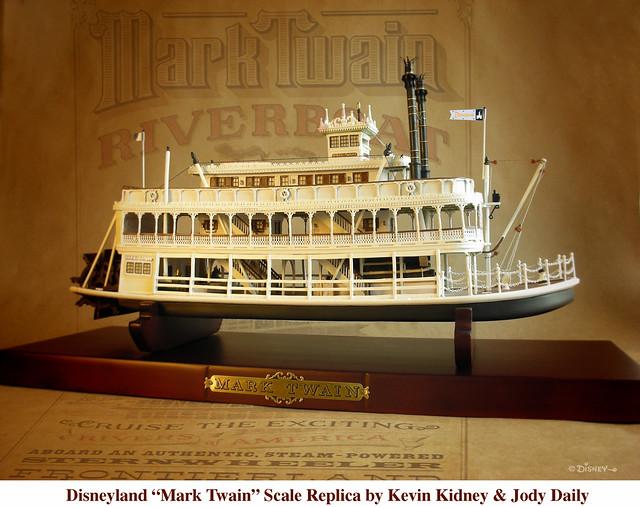 Disneyland Mark Twain Riverboat Replica Scale Model Of
