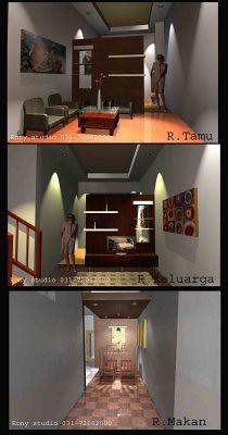 design interior minimalis ruang tamu keluarga dan ruang