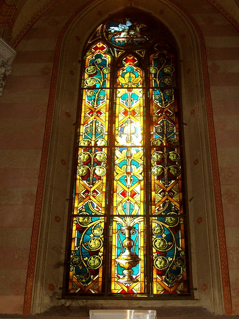 Sacro Cuore in Prati, side window in stained-glass