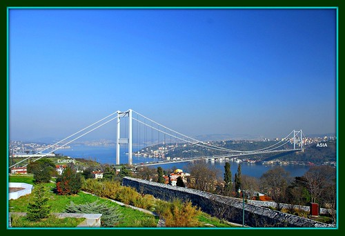 This is where two continents, Asia and Europe meet, Istanbul, TURKIYE