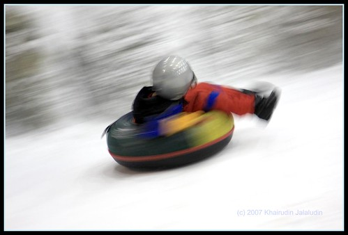 Snow Tubing in Dubai.