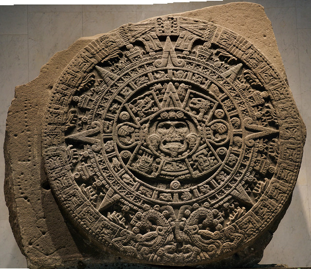 Aztec Calendar at the Anthropology Museum in Mexico City: Flikr user Michael McCarty