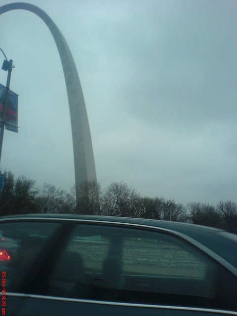 my morning view of the arch