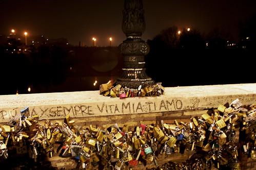 Liebeschlösser Ponte Milvio