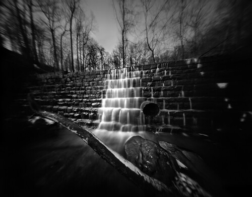 Bonnie Branch Dam -- a 4x5 Film Pinhole Photograph