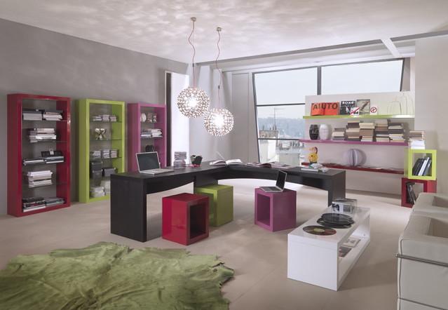"Mazzali: ""Krea"" bookcase / libreria ""Krea"" . Living and office area"