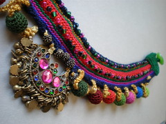 Old World - Earth Freeform Crochet Necklace