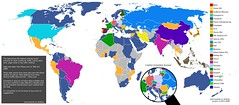 Social Network World Map 2008