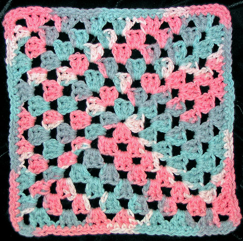 Crochet Granny Square Dishcloth Pattern : Granny Square Dishcloth Flickr - Photo Sharing!