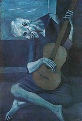 Image of The Old Guitarist by Picasso