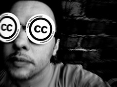 "Man in ""Creative Commons"" glasses"