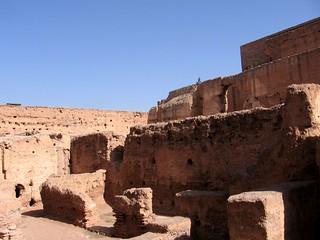 Image of  El Badi Palace  near  Marrakech-Medina. king el palace morocco marrakech marrakesh ahmed badi saadian elmansour
