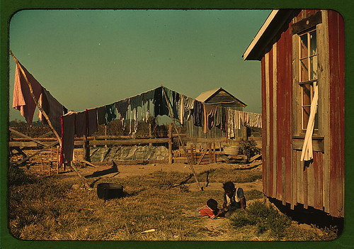Backyard of Negro tenant's home, Marcella Plantation, Mileston, Miss. Delta (LOC)