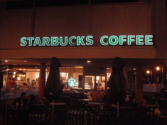 Night shot downtown palm springs starbucks explore joein flickr photo sharing Starbucks palm beach gardens