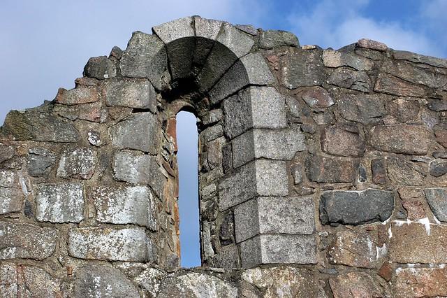 Østermarie church ruin window