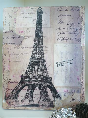 Vintage Paris Collag