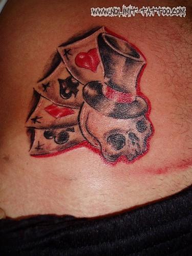 Harley davidson in tattoos top hat skull tattoo for Harley skull tattoos