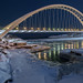 Humber Bay Arch Bridge after dark, Toronto Ontario by angie_1964