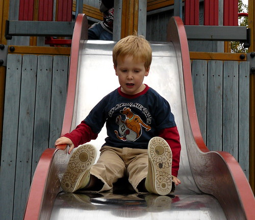 Toby on slide