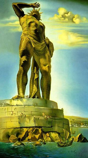 The Colossus of Rhodes. Pintado por Salvador Dali, 1954.