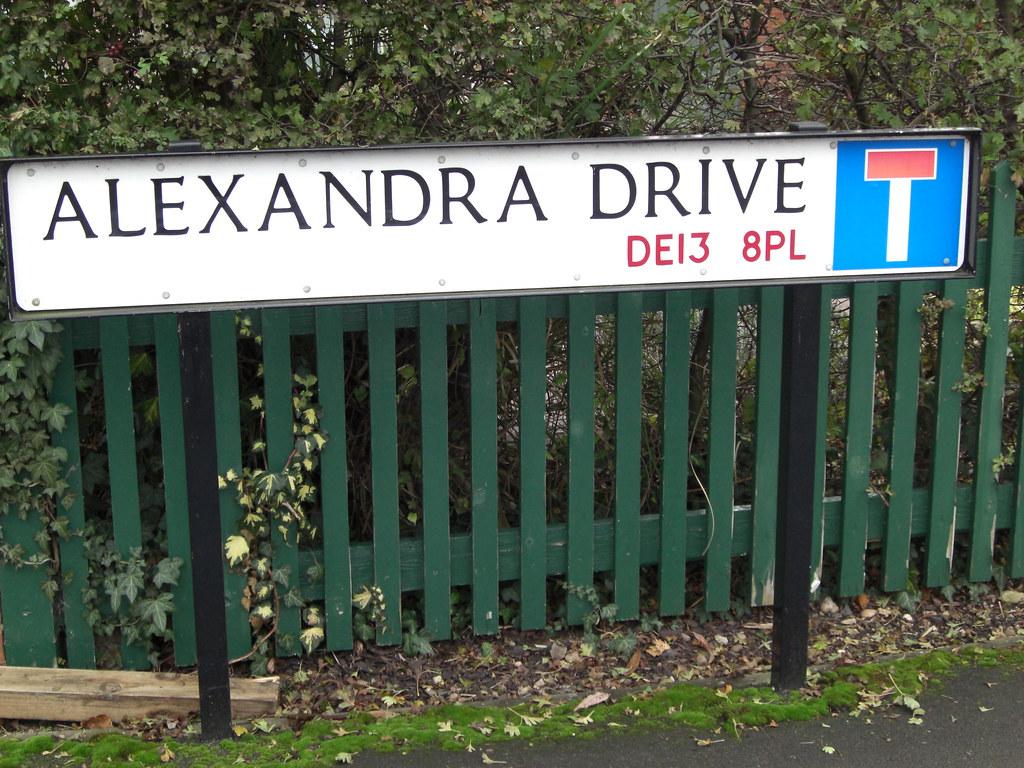 Postcode on signpost