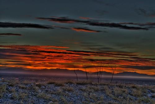 sunset whitesands nm hdr
