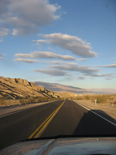 Driving back from Zabriskie Point