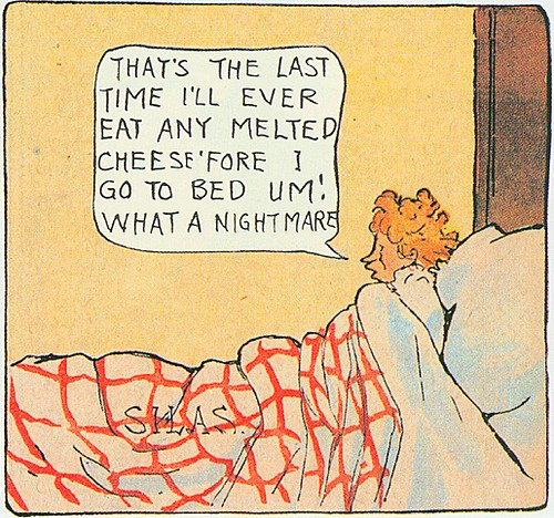 A dreamer finally wakes up (#598, February 23, 1913, final panel). What a nightmare!