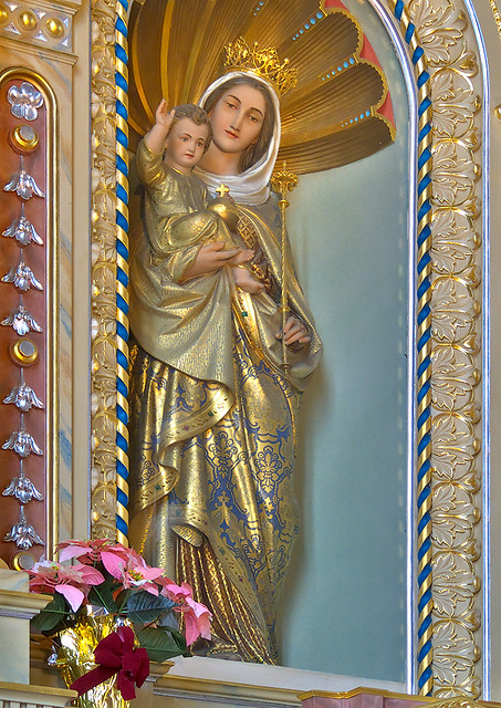 Saint Joseph Shrine, in Saint Louis, Missouri, USA - statue of Mary 2