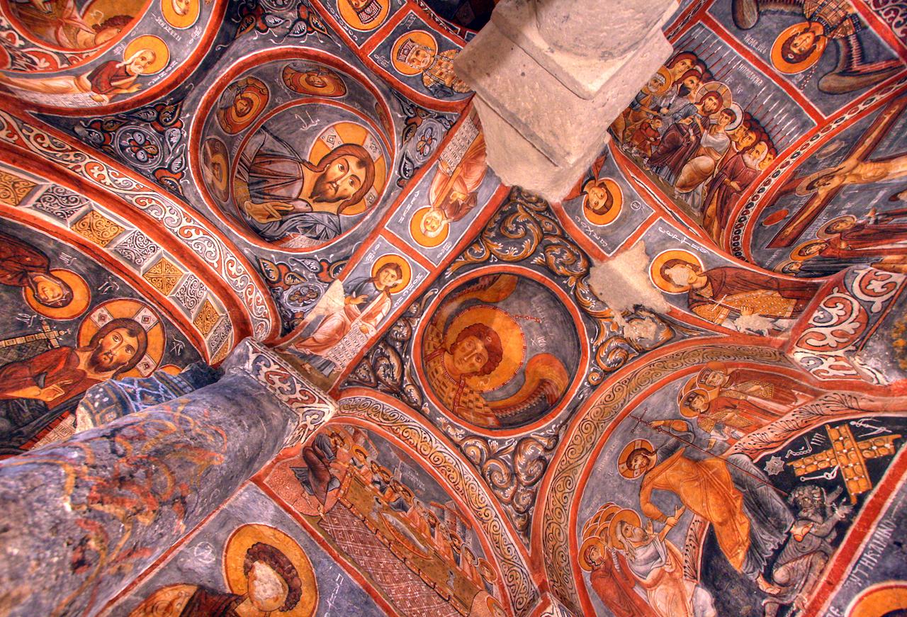 Church ceiling, Cappadocia
