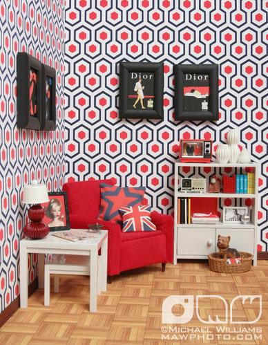 RED, WHITE & BLUE living room
