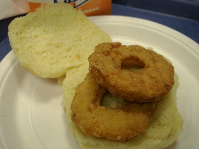 chicken ring sandwich white castle midtown nyc flickr