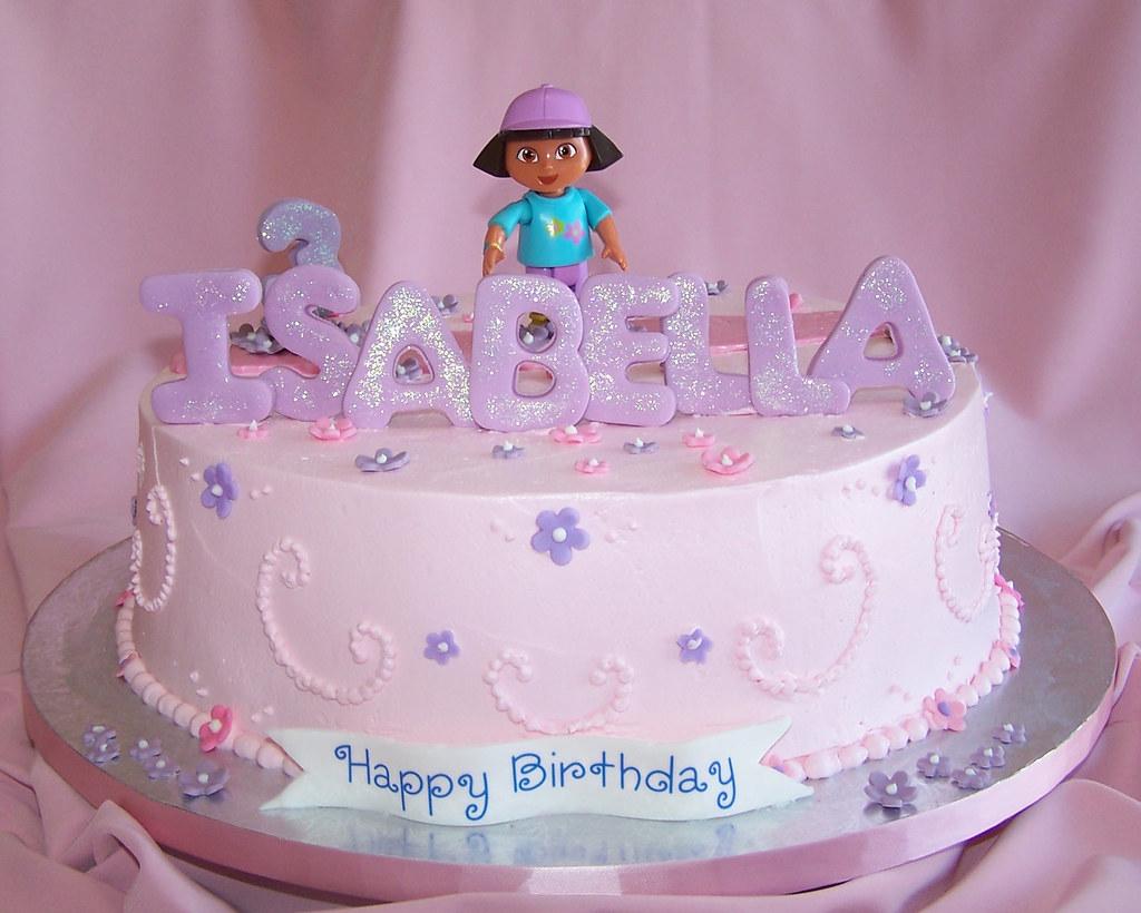 Girly Birthday Cake Dora Happy Birthday Isabella Flickr