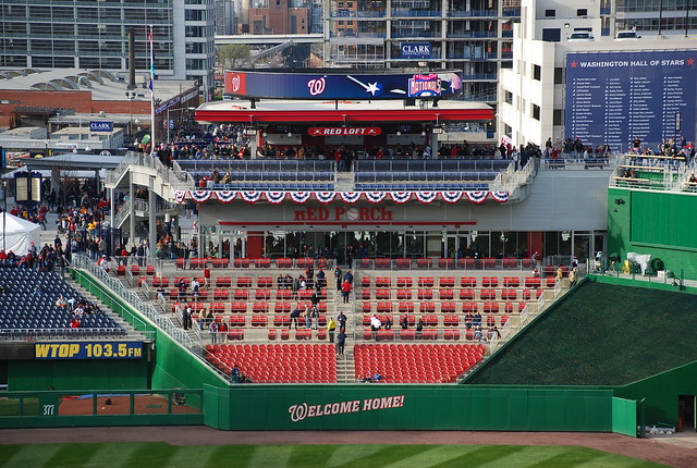 Red Porch and Red Loft   Exhibition game at Nationals Park ...