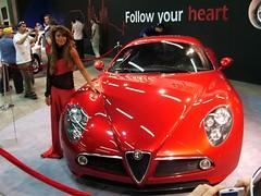 automobile(1.0), alfa romeo(1.0), vehicle(1.0), automotive design(1.0), alfa romeo 8c(1.0), auto show(1.0), alfa romeo 8c competizione(1.0), land vehicle(1.0), supercar(1.0), sports car(1.0),