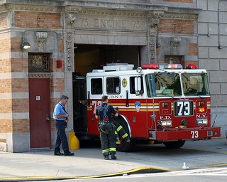 "E073 FDNY Firehouse ""La Casa Caca"" Engine 73, East Morrisania, Bronx, New York City"
