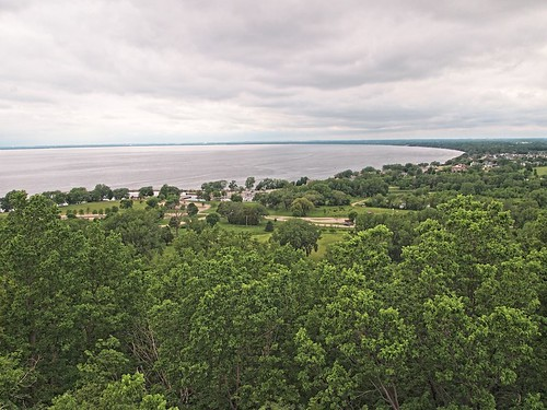 tower nature wisconsin forest outdoors spring midwest cloudy hiking lookout hike wi observationdeck sherwood observationtower niagaraescarpment lakewinnebago highcliffstatepark calumetcounty