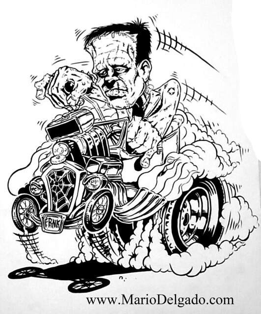 rat fink coloring pages - photo#2