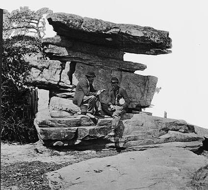Umbrella Rock On lookout mountain,Chattanooga,Tenn.1864_cr_cr