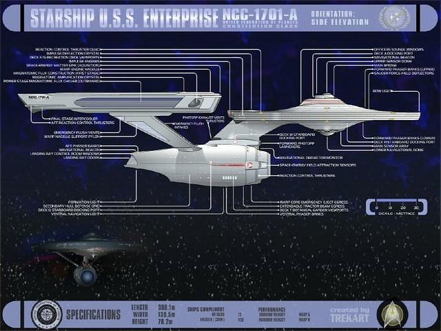 starship u s s enterprise ncc 1701 a design startrek wallpaper. Black Bedroom Furniture Sets. Home Design Ideas