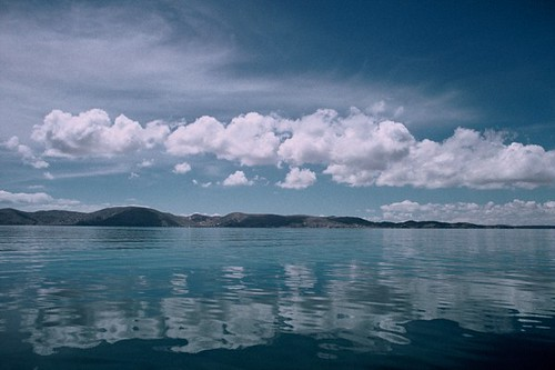 """Mirrored Clouds"", Lake Titicaca, Peru"